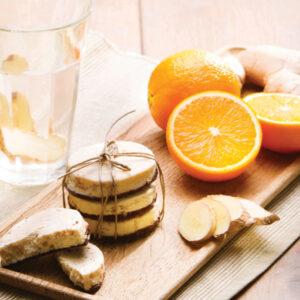 PS Sinaasappel gember koek