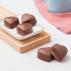 Framboos Melkchocolade hartjes